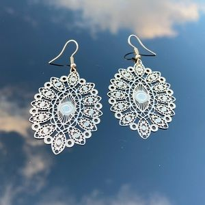 Filigree design boho stainless steel earrings